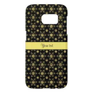 Glitzy Sparkly Yellow Glitter Stars Samsung Galaxy S7 Case