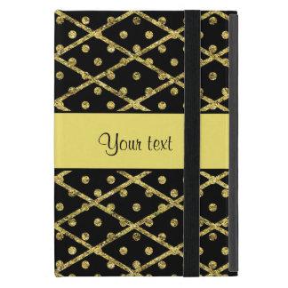 Glitzy Yellow Glitter Polka Dots & Diamonds iPad Mini Case