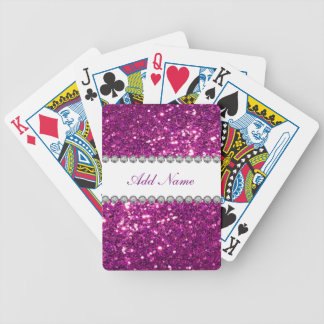 Glizty Bling Monogram Bicycle Playing Cards