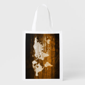Global Access of Service and Technology Solutions Reusable Grocery Bag