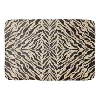 Global Chic World Traveler Zebra Skin Pattern Art Bath Mat