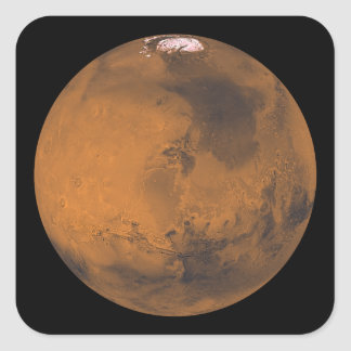 Global Color View of Mars Square Sticker