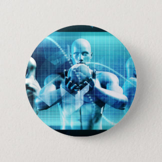 Global Conference Concept as a Abstract Background 2 Inch Round Button