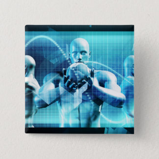 Global Conference Concept as a Abstract Background 2 Inch Square Button