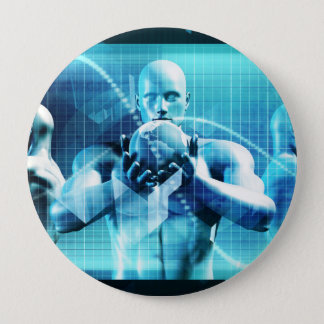 Global Conference Concept as a Abstract Background 4 Inch Round Button