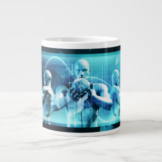 Global Conference Concept as a Abstract Background Large Coffee Mug
