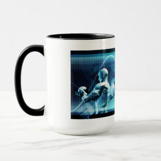 Global Conference Concept as a Abstract Background Mug