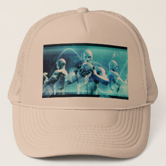 Global Conference Concept as a Abstract Background Trucker Hat