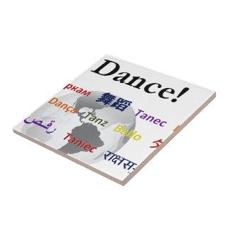 Global Dance - The Global Language Customizable Ceramic Tile