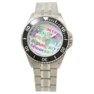 Global Democracy Wrist Watches