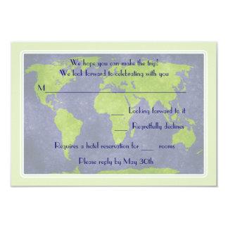 "Global Destination Wedding Response Card 3.5"" X 5"" Invitation Card"