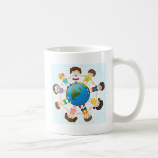 Global diversity basic white mug