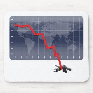 Global Economic Crisis Mouse Pad