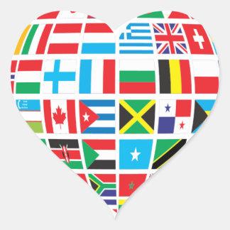 Global Heart Round Sticker