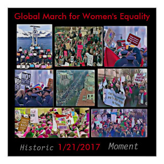 Global March for Women's Equality Poster