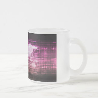 Global Network Connection and Integrated Frosted Glass Coffee Mug