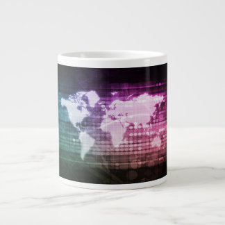 Global Network Connection and Integrated Large Coffee Mug
