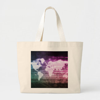 Global Network Connection and Integrated Large Tote Bag