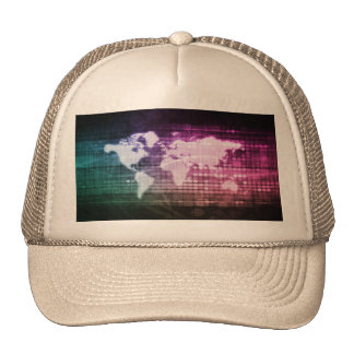 Global Network Connection and Integrated System Trucker Hat