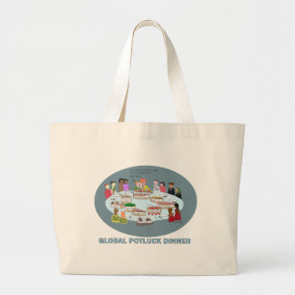 GLOBAL POTLUCK DINNER LARGE TOTE BAG