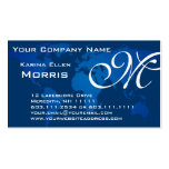 Global Professional Elegant Deep Blue World Map Business Card Templates