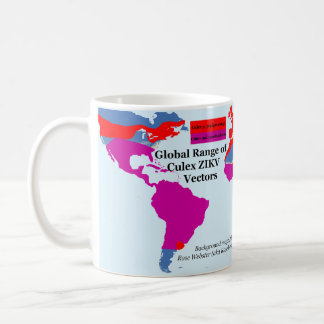 Global Range of Culex ZIKV Mug by RoseWrites