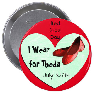 Global Red Shoe Day Lyme Awareness Button