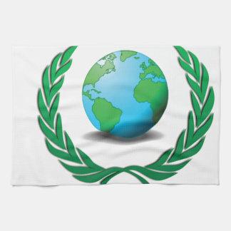 global Ruler green Kitchen Towel