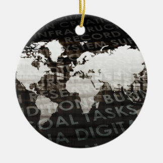 Global Subscription Services System as a Platform Ceramic Ornament
