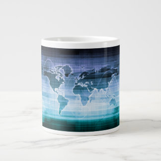 Global Technology Solutions on the Internet Large Coffee Mug