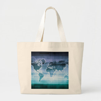 Global Technology Solutions on the Internet Large Tote Bag