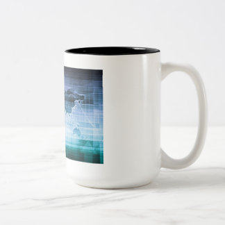 Global Technology Solutions on the Internet Two-Tone Coffee Mug