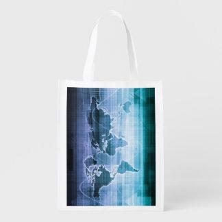 Global Technology Solutions Reusable Grocery Bag
