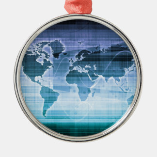 Global Technology Solutions Silver-Colored Round Ornament
