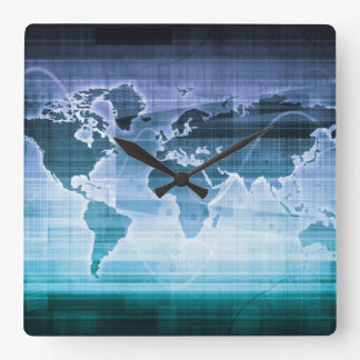 Global Technology Solutions Square Wall Clock