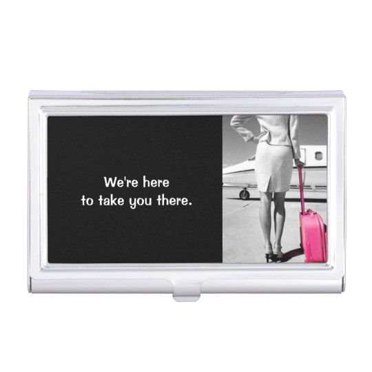 Global Travel Agency Agent Business Card Holder