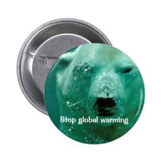 Global warming 2 inch round button
