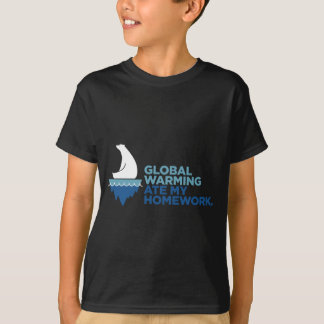 Global Warming Ate My Homework Youth T-Shirt