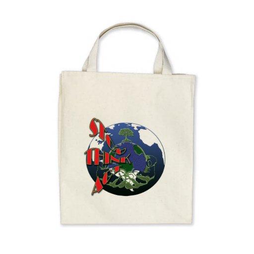 Global warming awareness organic tote bags