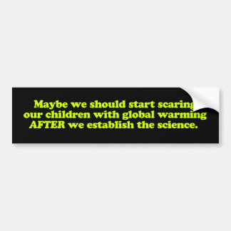 Global Warming & Children Bumper Sticker