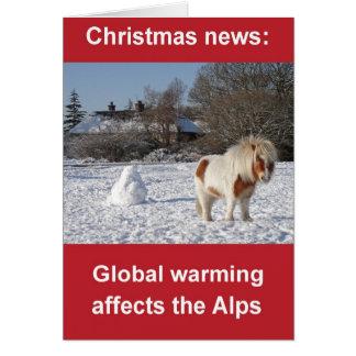 Global warming Christmas card