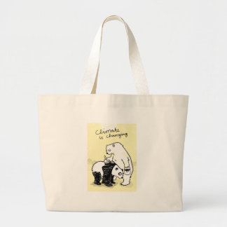 Global warming climate is changing bears canvas bags