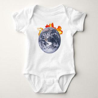 Global Warming Earth Baby Bodysuit