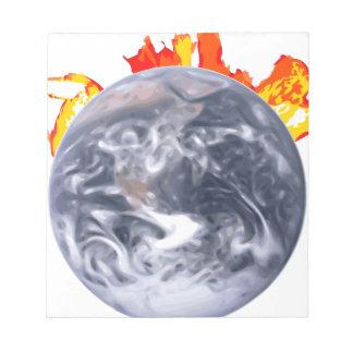 Global Warming Earth Notepad