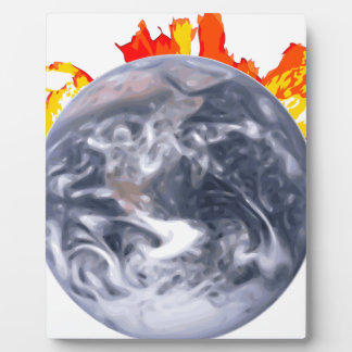 Global Warming Earth Plaque