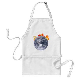 Global Warming Earth Standard Apron