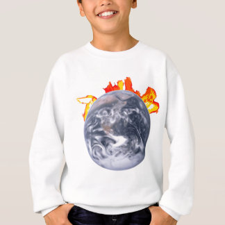 Global Warming Earth Sweatshirt