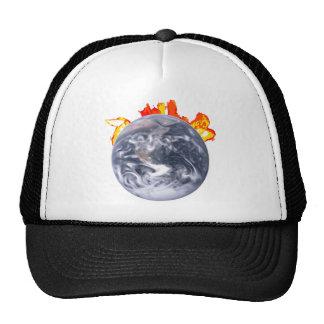 Global Warming Earth Trucker Hat