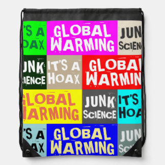 Global Warming Hoax Drawstring Bag