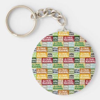 Global Warming Hoax Keychain